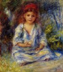 the little algerian girl by pierre auguste renoir painting