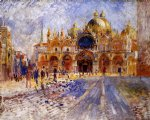 the piazza san marco venice by pierre auguste renoir painting