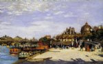 pierre auguste renoir the pont des arts and the institut de france painting