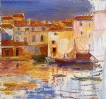 pierre auguste renoir the port of martigues painting