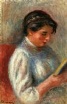 pierre auguste renoir the reader ii painting
