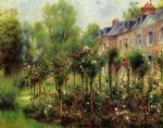 pierre auguste renoir the rose garden at wargemont painting