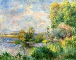 pierre auguste renoir the seine at bougival posters