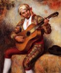 spanish art - the spanish guitarist by pierre auguste renoir