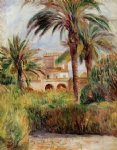 the test garden in algiers by pierre auguste renoir painting