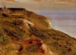 the varangeville church and the cliffs by pierre auguste renoir painting