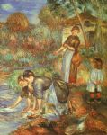 pierre auguste renoir the washer women prints