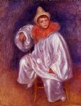 the white pierrot jean renoir by pierre auguste renoir paintings
