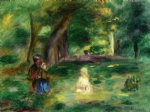 pierre auguste renoir three figures in a landscape posters