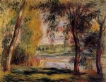 pierre auguste renoir trees by the water painting-26683