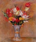 tulips by pierre auguste renoir paintings