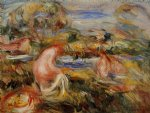pierre auguste renoir two bathers in a landscape painting 26443