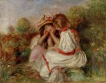 two little girls by pierre auguste renoir painting