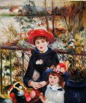 two sisters on the terrace 1881 by pierre auguste renoir painting