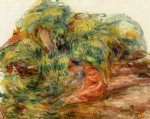 two woman in a garden by pierre auguste renoir painting