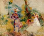 two women in a garden ii by pierre auguste renoir paintings