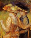 two women in a garden by pierre auguste renoir paintings
