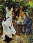 under the arbor at the moulin de la galette by pierre auguste renoir paintings