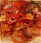 vase of anemones by pierre auguste renoir paintings