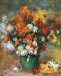 pierre auguste renoir vase of chrysanthemums prints
