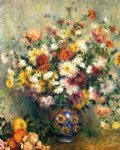 pierre auguste renoir vase of chrysanthemums ii painting