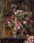 pierre auguste renoir vase of flowers v painting
