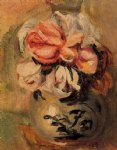 pierre auguste renoir vase of flowers painting