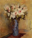 vase of lilacs and roses by pierre auguste renoir paintings