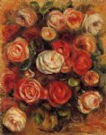 vase of roses ii by pierre auguste renoir paintings