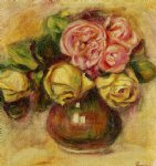 vase of roses iv by pierre auguste renoir paintings