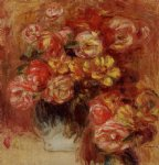 vase of roses by pierre auguste renoir paintings