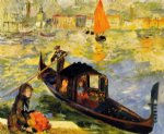 venetian gondola by pierre auguste renoir paintings