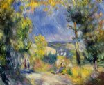 view close to antibes by pierre auguste renoir painting