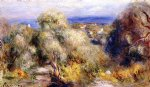 view of cannet by pierre auguste renoir painting