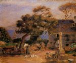 pierre auguste renoir view of treboul painting