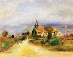 village by the sea by pierre auguste renoir paintings