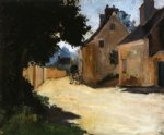 village street louveciennes by pierre auguste renoir paintings