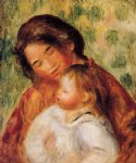 pierre auguste renoir woman and child ii posters