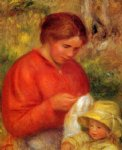 pierre auguste renoir woman and child painting