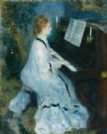 pierre auguste renoir woman at the piano posters