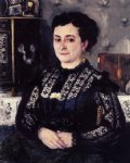 woman in a lace blouse by pierre auguste renoir painting