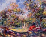 woman in a landscape ii by pierre auguste renoir paintings