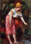 woman in a straw hat ii by pierre auguste renoir paintings
