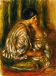 oriental watercolor paintings - woman in an oriental costume by pierre auguste renoir