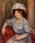 woman in blue ii by pierre auguste renoir paintings