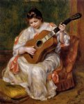 pierre auguste renoir woman playing the guitar painting 26543