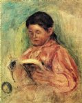 woman reading ii by pierre auguste renoir paintings