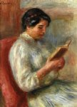 woman reading iii by pierre auguste renoir paintings