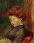 woman s head iii by pierre auguste renoir paintings