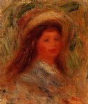 pierre auguste renoir woman s head ix painting